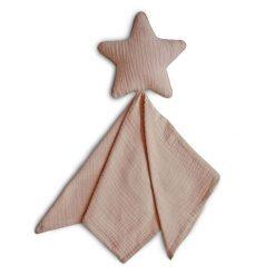 Mushie Lovey Blanket Star Natural